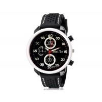 MEITE 1803 аналоговые часы  и каучуковый ремешок (белые)