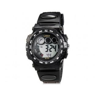 LASIKA W-F83 мужские 30M водонепроницаемые Спортивные часы с календарем и Будильник (черные)