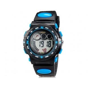 LASIKA W-F83 мужские 30M водонепроницаемые Спортивные часы с календарем и Будильник (синие)