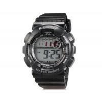LASIKA W-H9001 30M водонепроницаемые часы с календарём и будильником (черные)