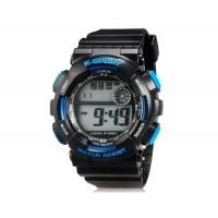 LASIKA W-H9001 30M водонепроницаемые часы с календарём и будильником (синие)