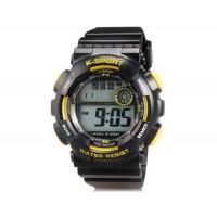 LASIKA W-H9001 LASIKA W-H9001 30M водонепроницаемые часы с календарём и будильником (желтые)