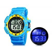 JIASEN 938D Электронные наручные часы с подсветкой и Секундомер (синие)