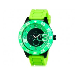 V6 0222 Super Speed спортивные аналоговые наручные часы (зеленые)
