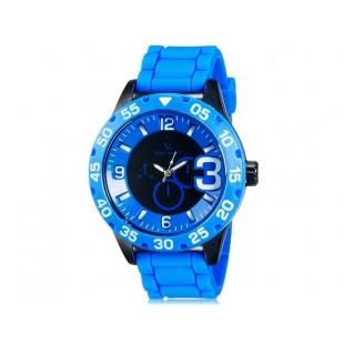 V6 0222 Super Speed спортивные аналоговые наручные часы (синие)