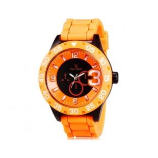 V6 0222 Super Speed спортивные аналоговые наручные часы (оранжевый)