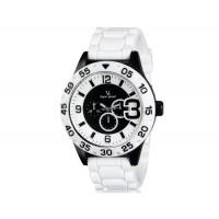 V6 0222 Super Speed спортивные аналоговые наручные часы (белые)