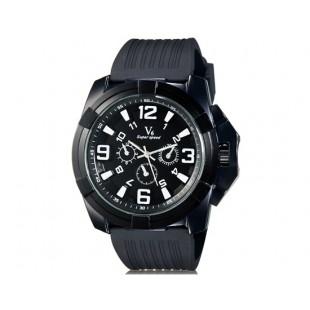 V6 0193 Super Speed спортивные аналоговые наручные часы (черные)