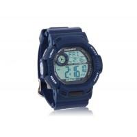 PASNEW 319 с голубой подсветкой  Пластиковые цифровые наручные часы (синие)
