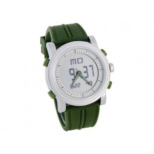 Силиконовой лентой ЖК-цифровые наручные часы (зеленые)