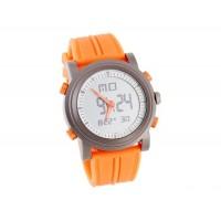 Силиконовой лентой ЖК-цифровые наручные часы (оранжевый)
