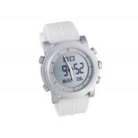 Силиконовой лентой ЖК-цифровые наручные часы (белые)
