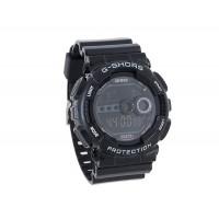 Стильные спортивные цифровые наручные часы (черные)