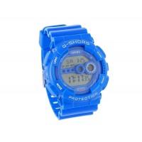 стильные спортивные цифровые наручные часы (синие)