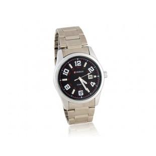 CURREN часы с браслетом из нержавеющей стали, Календарь (черный)