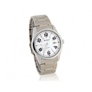 CURREN Мужские часы Браслет из нержавеющей стали, Календарь (белый)