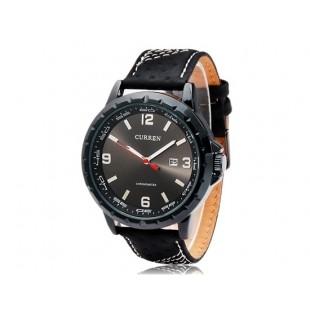 CURREN 8120 наручные часыс календарем  (черный)