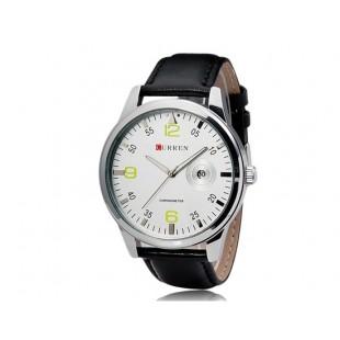 CURREN 8116 наручные часыс календарем (белый)