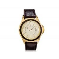 Купить CURREN 8124 наручные часыс календарем   (бежевый)