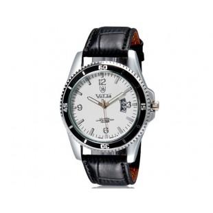 VaLia 8214 Стильные  аналоговые часы с календарем  (белый)