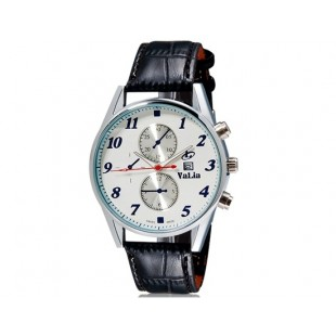 VaLia 8197 Мужские Аналоговые часы с календарем (черный)