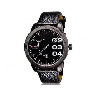 CURREN 8125 наручные часыс календарем (черный)