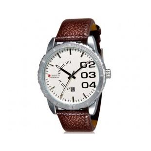 CURREN 8125 наручные часыс календарем  (коричневый)
