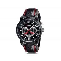 Купить Curren 8140 Мужские модные Аналоговые часы с календарем  (черный)