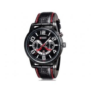 Curren 8140 Мужские модные Аналоговые часы с календарем  (черный)