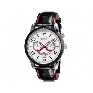 CURREN 8140 аналоговые часы с календарем  (белый)