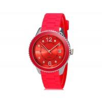 Купить SHORS 80080 Аналоговые часы с календарем и силиконовый ремешок (красный)