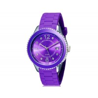 Купить SHORS 80080 Unisex Аналоговые часы с календарем и силиконовый ремешок (Фиолетовый)