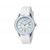 Купить SHORS 80080 унисекс аналоговые часы с календарем и силиконовый ремешок (белый)