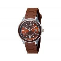 Купить SHORS 80080 Unisex Аналоговые часы с календарем и силиконовый ремешок (коричневый)