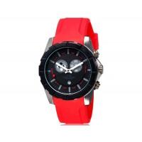 Купить SHORS 80079 Кварцевые часы с календарем и силиконовый ремешок (красный)