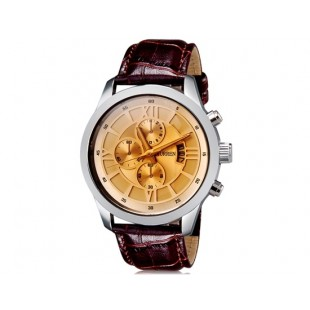 CURREN 8137 мужские кварцевые часы с календарем Gold)