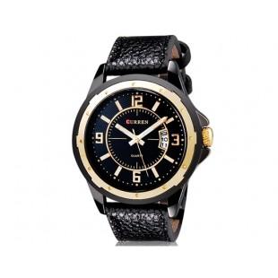 CURREN 8124 наручные часыс календарем  (черный)