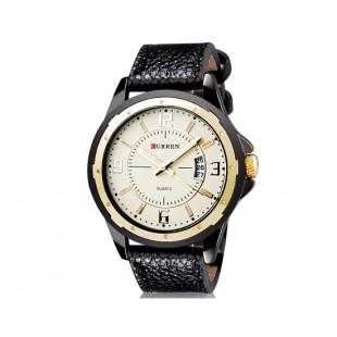 CURREN 8124 наручные часыс календарем  (бежевый)