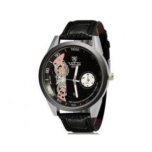 VaLia 8236  Аналоговые часы с Отображение календаря (черный)