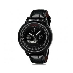 VaLia 8237 Модные мужские Аналоговые часы с датой (черный)