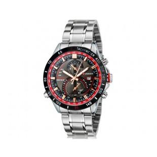 Curren 8149  аналоговые часы с календарем (белый и черный)