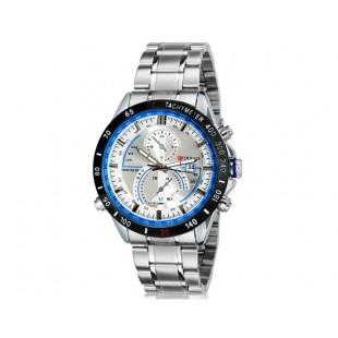 Curren 8149  часы с календарем (белый)