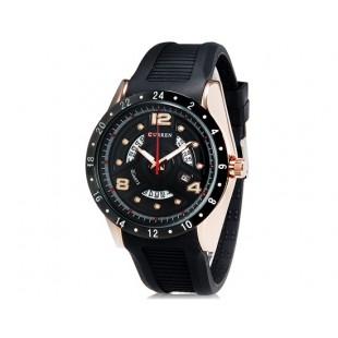 CURREN 8142 кварцевые водостойкие наручные часы с функцией календаря (черный)
