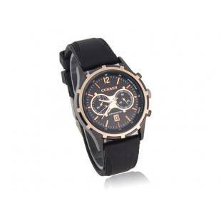 CURREN 8066  Rubber Band наручные часы с календарем (черный)
