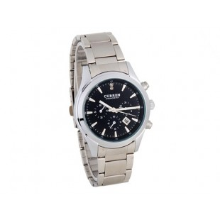 CURREN 8085 Нержавеющая сталь  часы с датой (черный)