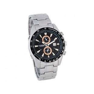CURREN  8010 аналоговые часы с календарем (черный)