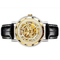 OUYAWEI 1221 Мужская Автоматические механические часы  кожаный ремешок (белый) М.