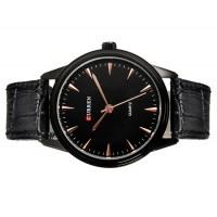 CURREN 8119G  водостойкие кварцевые наручные часы  (черные)