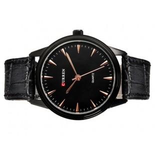 CURREN 8119G Мужские модные , строгий  стиль, водостойкие кварцевые наручные часы  (черные)