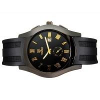 VALIA  8263 Unisex Модные Круглый циферблат аналогового наручные часы с календарем (черный)